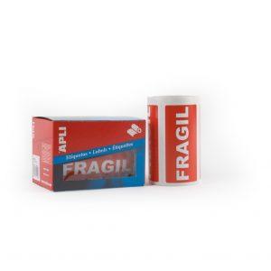etiqueta adhesiva fragil de 5 x 10