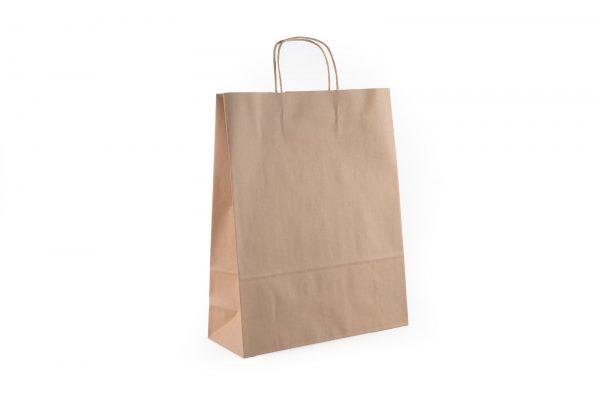 bolsa de papel marron con asa