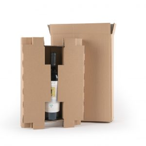 caja de carton 3 botellas de vino