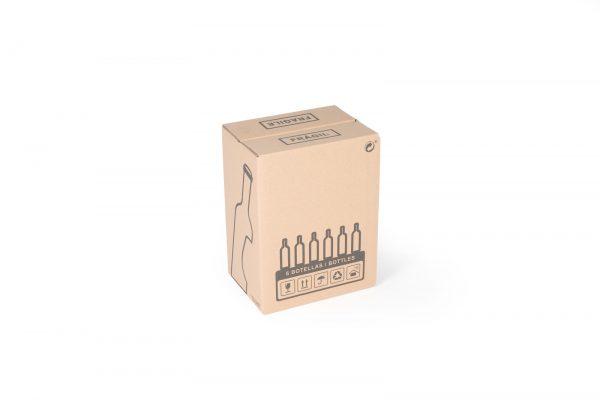 caja de carton para 6 botellas