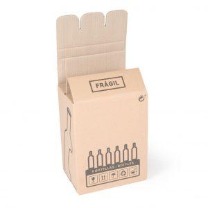 caja de carton para botellas