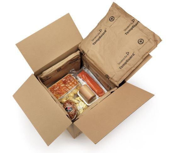 caja carton canal simple isotermica